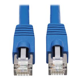 Cat6a 10G-Certified Snagless F/UTP Ethernet Cable (RJ45 M/M), PoE, CMR-LP, Blue, 30 ft. (9.14 m)