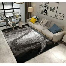 "Designer Shag S.V.D. S10 Area Rug by Rug Factory Plus - 7'6"" x 10'3"" / Gray"