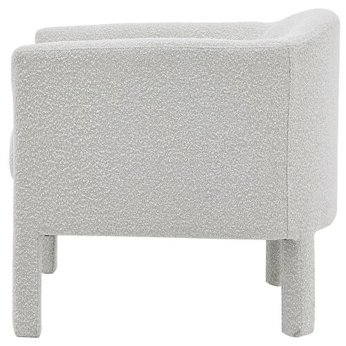 Jennifer Fabric Accent Arm Chair, Boucle Beige