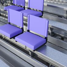 See Details - Grandstand Comfort Seats by Flash - 500 lb. Rated Lightweight Stadium Chair with Handle & Ultra-Padded Seat, Purple