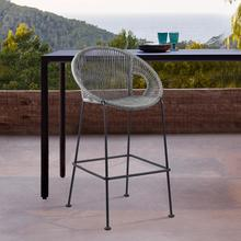 """View Product - Acapulco 26"""" Indoor Outdoor Steel Bar Stool with Grey Rope"""