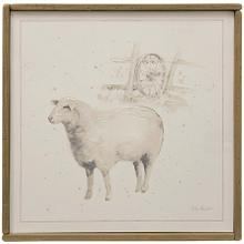 Farm Animals III  Hand Embellished Print on Stretched Canvas & Framed in Reclaimed Wood  Hanging H