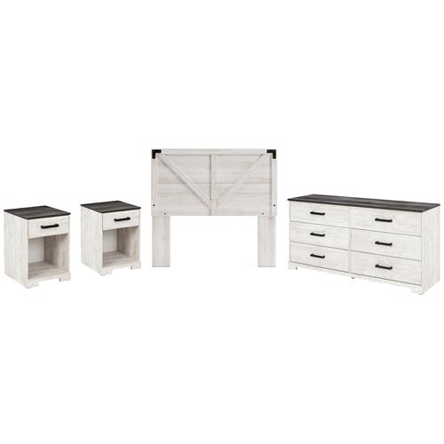 Ashley - Full Panel Headboard With Dresser and 2 Nightstands
