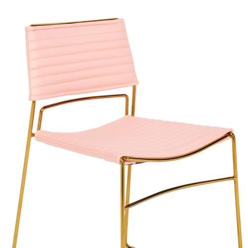 Product Image - Domani Blush Vegan Leather Chair (Set of 2)