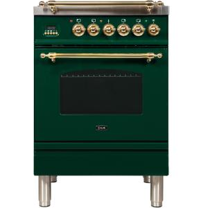 24 Inch Emerald Green Dual Fuel Natural Gas Freestanding Range