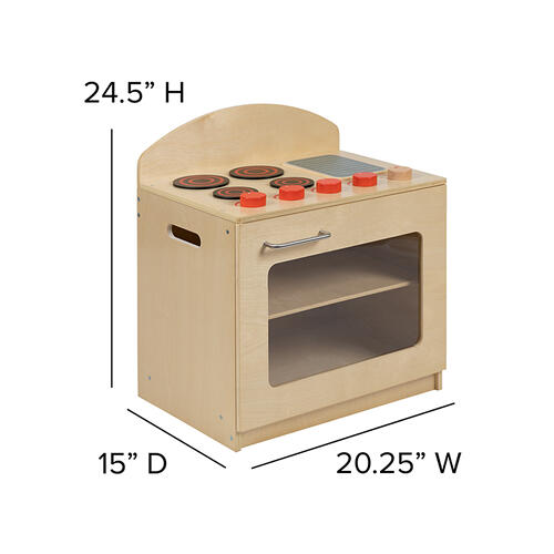 Flash Furniture - Children's Wooden Kitchen Set - Stove, Sink and Refrigerator for Commercial or Home Use - Safe, Kid Friendly Design