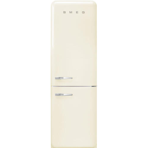 "'50s Style No Frost' Fridge-Freezer, Cream, Right Hand Hinge, 60 cm (Approx 24"")"