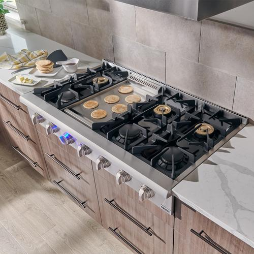 Thor Kitchen - 48 Inch Professional Gas Rangetop In Stainless Steel - Liquid Propane