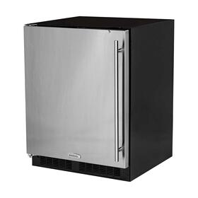 24-In Low Profile Built-In All Refrigerator With Maxstore Bin with Door Style - Stainless Steel, Door Swing - Left