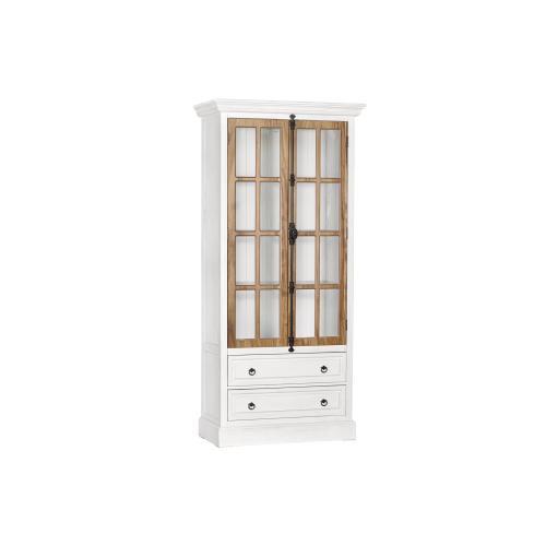 Point Isabel 2 Drawer 2 Door Curio Cabinet