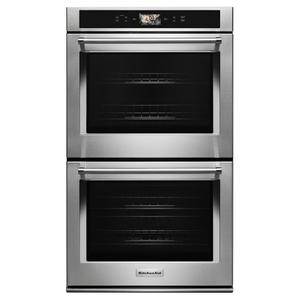 "Smart Oven+ 30"" Double Oven with Powered Attachments - Stainless Steel Product Image"