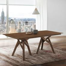 "Cortina 79"" Mid-Century Modern Walnut Wood Dining Table with Walnut Legs"
