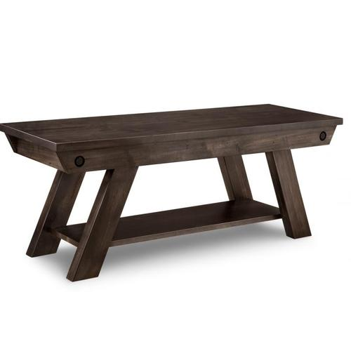 """Handstone - Algoma 48"""" Bench with Leather Seat"""