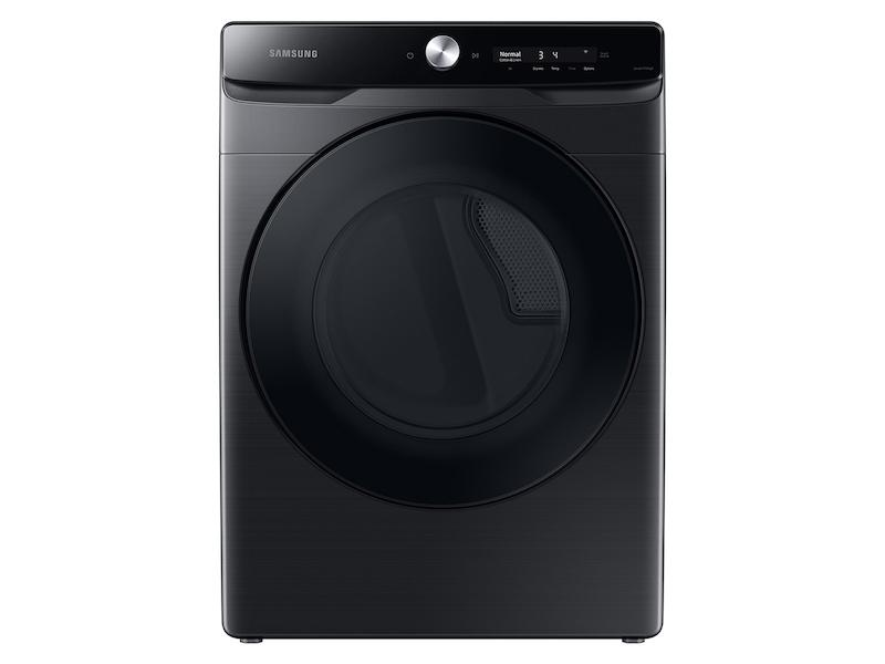 Samsung7.5 Cu. Ft. Smart Dial Electric Dryer With Super Speed Dry In Brushed Black