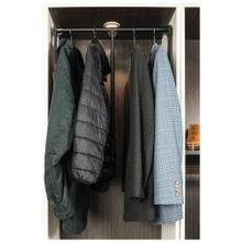 """See Details - Heavy-Duty 45 Pound Capacity Soft-close Expandable Wardrobe Lift for 33"""" - 48"""" Openings"""