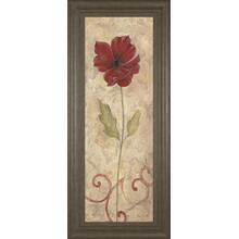 """Red Flower Il"" Framed Print Wall Art"