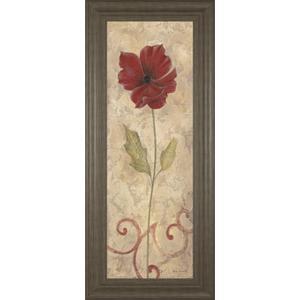 """Red Flower Il"" Framed Print Wall Art"
