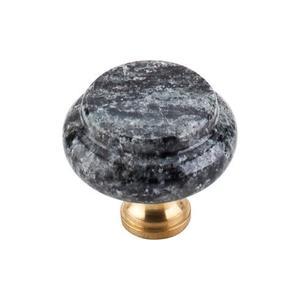 Top Knobs - Verde Maritaka Granite Knob 1 3/8 Inch Brass Base