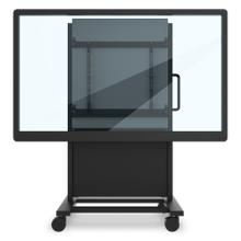 BalanceBox 650-180 Mobile Cart for 207.2-372.6lbs (650-180 + VESA + Wheel Base), Whiteboard Surface Wings Compatible