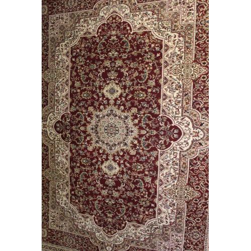 "Persian Design 1 Million Point Heatset Monalisa T06 Area Rugs by Rug Factory Plus - 2'8"" x 10' / Burgundy"