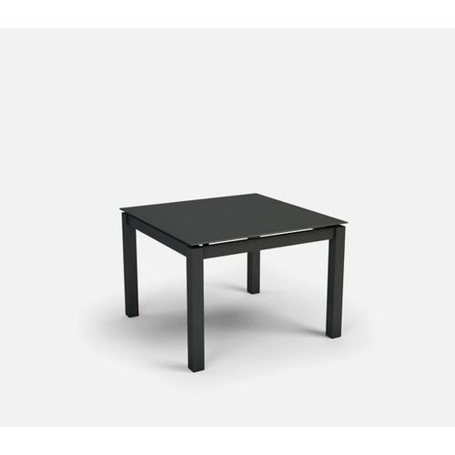 """30"""" Square End Table (no Hole) Ht: 20"""" Post Aluminum Base (Model # Includes Both Top & Base)"""