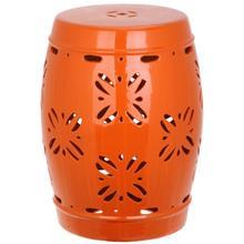See Details - Sakura Garden Stool - Orange