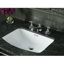 See Details - Under-mount Sink with Overflow, Glazed - Stucco White