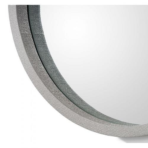 Como Mirror - Grey Linen