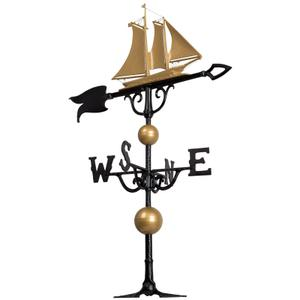 "46"" Yacht Weathervane - Bronze/Gold Product Image"
