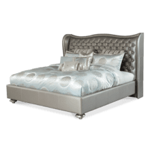 Metallic Graphite Cal King Upholstered Bed