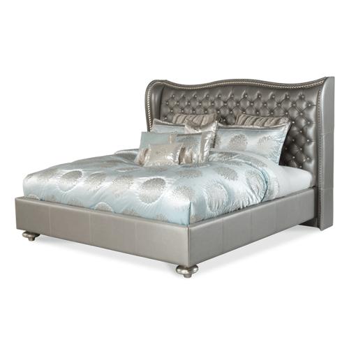 Metallic Graphite Cal King Upholstered Bed