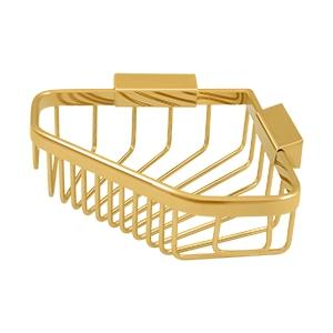 "Wire Basket 8-1/4""x 6-7/8"" Pentagon - PVD Polished Brass Product Image"