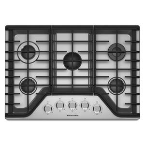 "Kitchenaid30"" 5-Burner Gas Cooktop - Stainless Steel"
