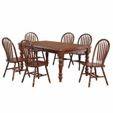 Product Image - Extendable Dining Set w/Arrowback Chairs (7 Piece)