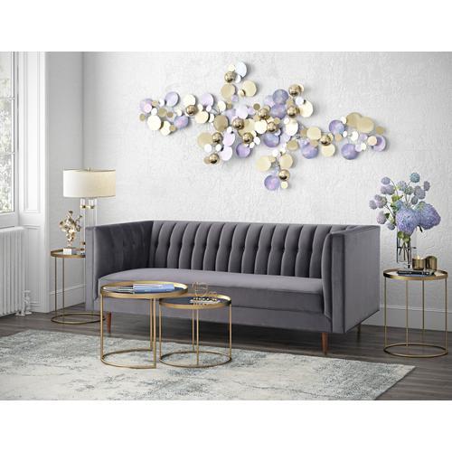 Tov Furniture - Sebastian Grey Velvet Sofa