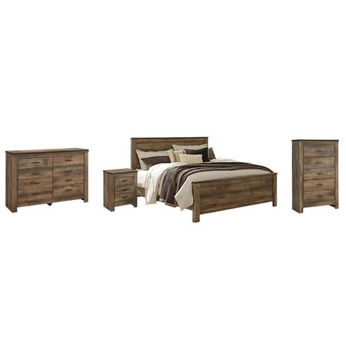 Ashley - King Panel Bed With Dresser, Chest and Nightstand