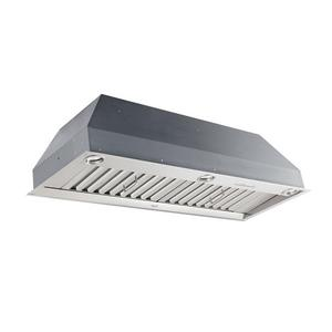 """36-1/2"""" Stainless Steel Built-In Range Hood for use with External Blower Options 300 to 1650 Max CFM"""