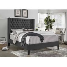 7536 Wing Back Fabric Platform Bed - FULL