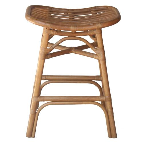 Damara Rattan Counter Stool, Canary Brown