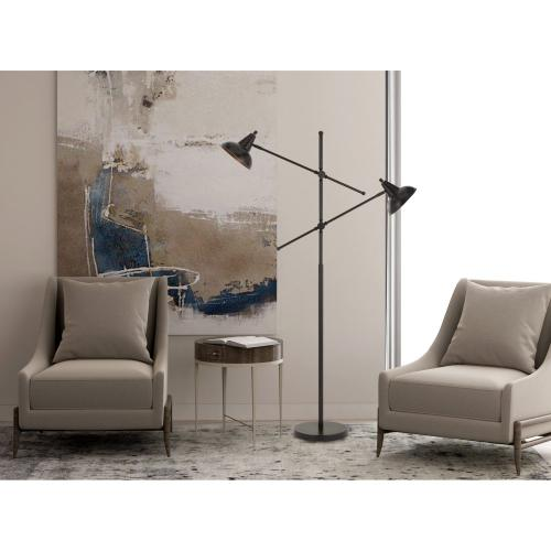 60W X 2 Canterbury Metal Adjustable Floor Lamp
