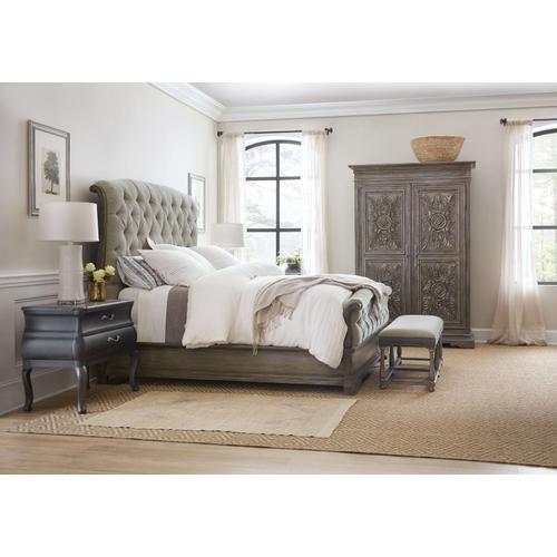 Woodlands Cal King Upholstered Bed