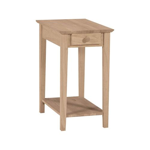Unfinished Narrow End Table