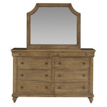 See Details - Brussels 8 Drawer Dresser with Mirror, Brown
