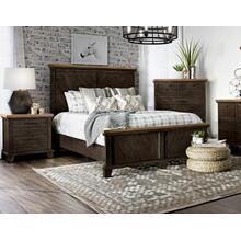 Bear Creek Brown 4-Piece King Set (Q Bed/NS/Dresser/Mir)