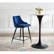 Adorn Performance Velvet Counter Stool in Navy