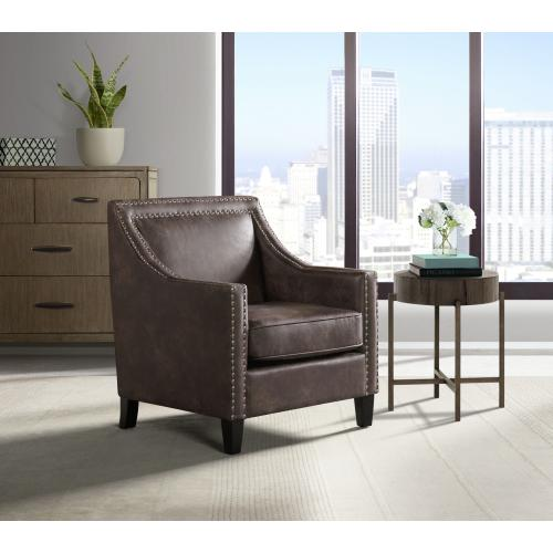 Erica Chair with Chrome Nails in Sierra Charcoal