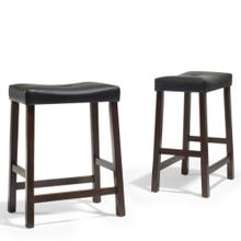 24 IN. Upholstered Saddle Stool
