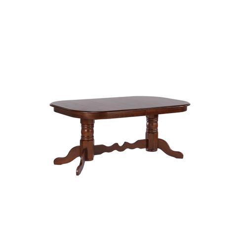 Double Pedestal Extendable Dining Set (9 Piece)