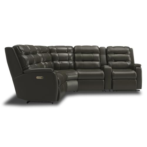 Flexsteel - Arlo Power Reclining Sectional with Power Headrests and Lumbar