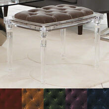 Marilyn Acrylic 4 Leg Bench-Brown Sugar